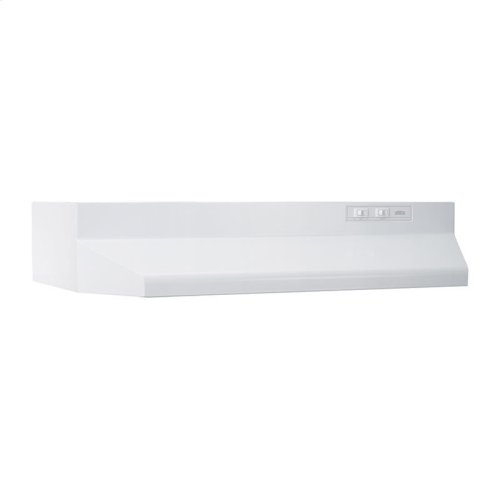24-Inch Under Cabinet Range Hood with Light in White with EZ1 installation system