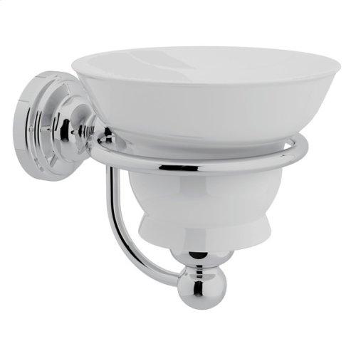 Polished Chrome Perrin & Rowe Edwardian Wall Mount Porcelain Soap Dish
