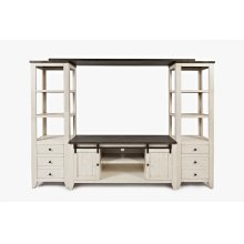 Madison County Entertainment Wall - Vintage White