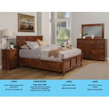 A-R468-Q/CK/EK Rustic Elevated Pedestal Bed