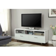 Transitional White TV Console