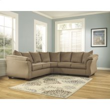 Signature Design by Ashley Darcy Sectional in Mocha Microfiber