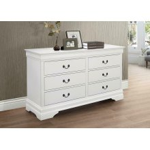 Louis Philippe White Six-drawer Dresser