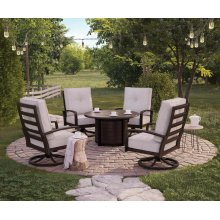 Castle Island - Dark Brown 5 Piece Patio Set