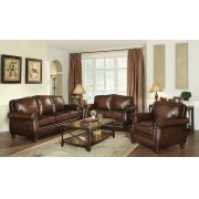 Montbrook Traditional Hand Rubbed Brown Sofa Product Image