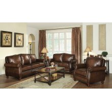 Montbrook Traditional Hand Rubbed Brown Sofa