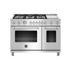 "48"" Master Series range - Gas Oven - 6 brass burners + griddle"