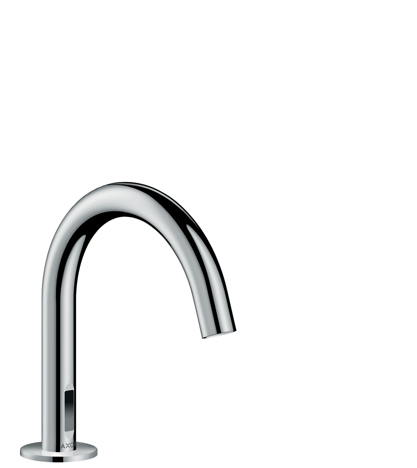 Chrome Electronic basin mixer with temperature pre-adjustment with mains connection 230 V