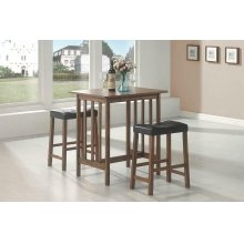 Casual Brown Three-piece Table Set
