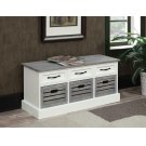 Traditional White and Grey Cabinet Product Image