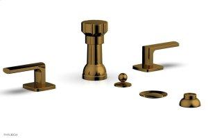 RADI Four Hole Bidet Set, Lever Handles 181-61 - French Brass Product Image