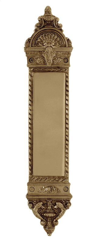 Nostalgic Warehouse - Small New Orleans Pushplate in Polished Brass Product Image