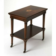 This traditional server cart can be used in any room, use it in the living room for drinks before dinner, use the top to set out trays of tasty tapas, while the bottom stages several pairings of your favorite vintage, or in the kitchen as coffee bar for y