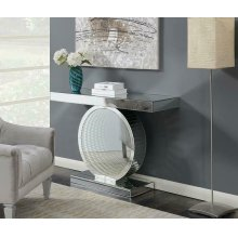 Contemporary Silver Console Table