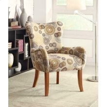 Transitional Multi-color Accent Chair