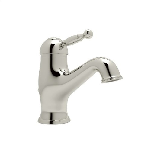 Polished Nickel Arcana Single Hole, Single Lever Lavatory Faucet with Arcana Series Only Ornate Metal Lever