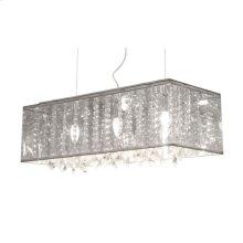 Blast Ceiling Lamp Clear Metallic