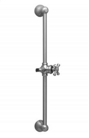 """24"""" Adjustable Slide Bar with Hook K6024 - Polished Brass Product Image"""