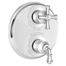 Delancey Two-Handle Thermostat Trim  American Standard - Polished Chrome