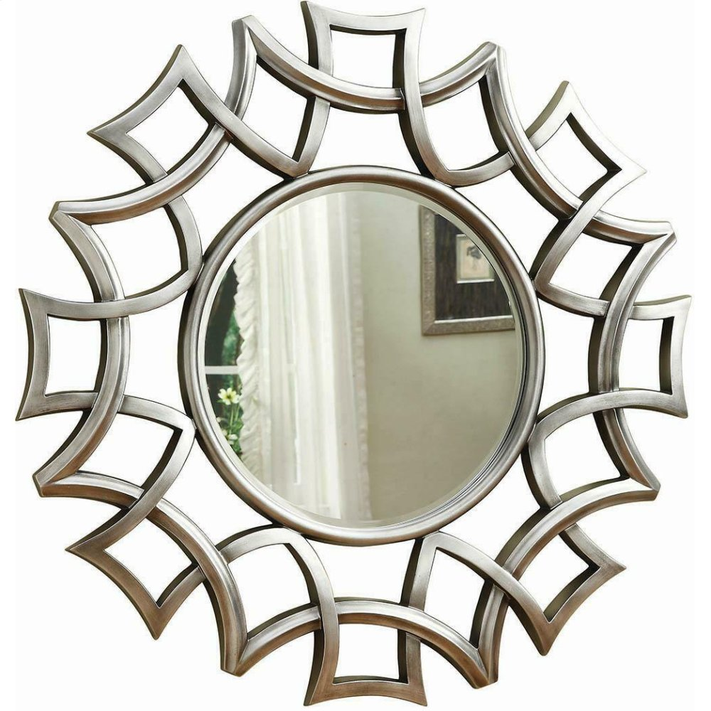 Transitional Silver Accent Mirror
