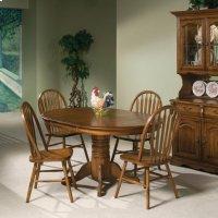 "Classic Oak Burnished 42"" Pedestal Table Product Image"