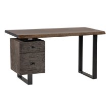 Live Edge Metal File Desk Base