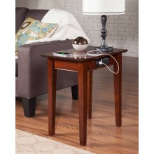 Shaker Chair Side Table with Charger Walnut