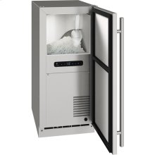 """Outdoor Collection 15"""" Nugget Ice Machine With Stainless Solid Finish and Field Reversible Door Swing, Pump Included (115 Volts / 60 Hz)"""