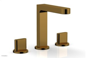 ROND Widespread Faucet - Blade Handles High Spout 183-01 - French Brass Product Image