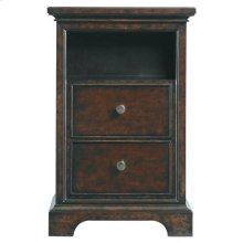 Transitional Telephone Table - Polished Sable