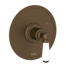 English Bronze Perrin & Rowe Edwardian Pressure Balance Trim Without Diverter with Metal Lever