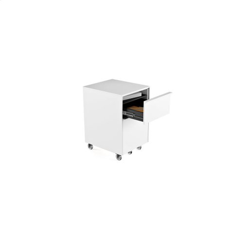 Mobile File Pedestal 6207 in Smooth Satin White