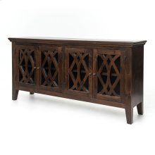Antique Brown Finish Azalea Sideboard 4 Door