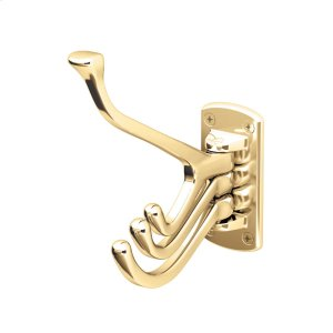 Premier Swivel Wardrobe Hook in Polished Brass Product Image