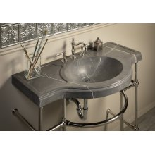 Renaissance Console Top, Marquina Taupe Honed Marquina Taupe