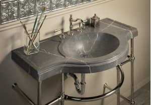 Renaissance Console Top, Marquina Taupe Honed Marquina Taupe Product Image