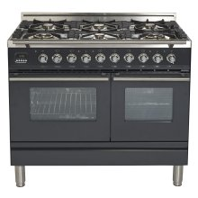 "40"" - 6 Burner, Double Oven in Matte Graphite"