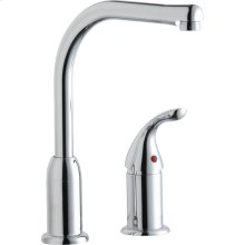 Elkay Everyday Kitchen Deck Mount Faucet with Remote Lever Handle Chrome