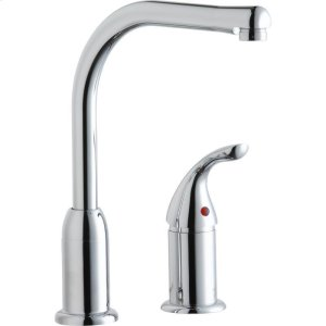 Elkay Everyday Kitchen Deck Mount Faucet with Remote Lever Handle Chrome Product Image