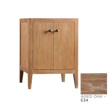 "Sophie 24"" Bathroom Vanity Cabinet Base in Aged Oak"
