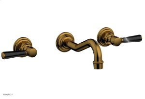 HENRI Wall Tub Set - Marble Lever Handles 161-58 - French Brass Product Image
