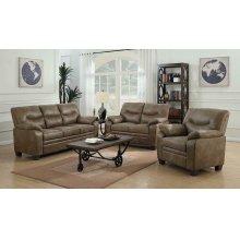 Meagan Casual Brown Three-piece Living Room Set