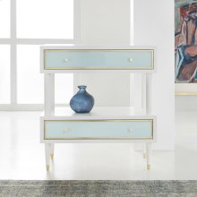 Seaglass Two Tier Nightstand