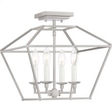 Aviary Semi-Flush Mount in Brushed Nickel