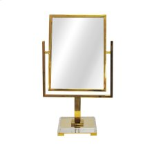 Counter Top Mirror Brass With Acrylic Base