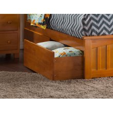 Two Urban Bed Drawers Queen/King in Caramel Latte