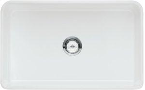 "Blanco Cerana® II 30"" Single Bowl With Apron - Crystal White Glossy Product Image"