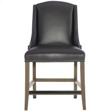 Slope Leather Counter Stool in Smoke