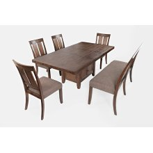 Mission Viejo Dining Table With 4 Chairs and Bench