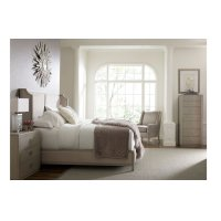 Cinema by Rachael Ray Upholstered Shelter Bed, Queen 5/0 Product Image